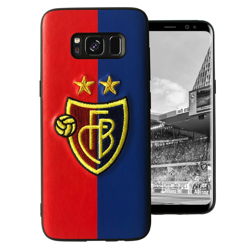 Samsung Cover S8 rotblau mit Logostick